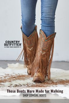 mode Country Outfitter carries cowgirl boots, cowboy boots, and hats from top brands. We offer free Cowboy Up, Cowboy Boots Women, Cowgirl Boots, Western Boots, Riding Boots, Fringe Cowboy Boots, Cowboy Shoes, Country Look, Bota Country