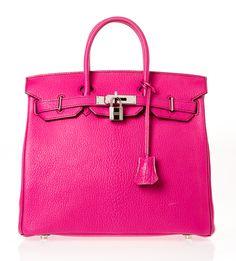 Hermes Dark Pink Birkin 28 with Silver Palladium Hardware Satchel @FollowShopHers