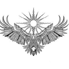 Eagle Back Tattoo, Eagle Wing Tattoos, Small Eagle Tattoo, Small Back Tattoos, Sketch Style Tattoos, Tattoo Design Drawings, Tattoo Sleeve Designs, Tattoo Designs Men, Sleeve Tattoos