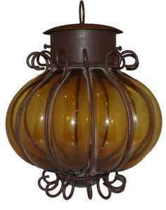 Mexican lantern, wrought iron, I have one exactly like this! (And, so does Disneyland!)