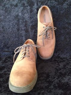 Rockport Waterproof Nubuck Brown Leather Oxford Tie Shoes 500657 11.5 Wide #Rockport #Oxfords