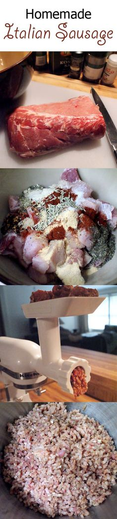 Homemade Bulk Italian Sausage (Instructions included for those without a meat grinder.)