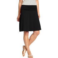 Old Navy Womens Fold Over Jersey Skirt ($20) ❤ liked on Polyvore