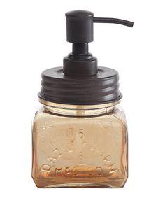 Look at this #zulilyfind! Amber Glass & Metal Soap Pump #zulilyfinds