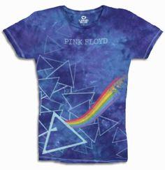 f6f06908 Pink Floyd Prism Longer Length Baby Doll T Shirt Tie Dye T Shirts, Pink  Floyd