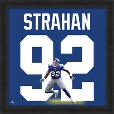 Featured is a Michael Strahan framed New York Giants jersey photo. This photo has been professionally framed and is approximately **Note: This photo is not signed. New York Giants Jersey, New York Giants Football, Best Football Team, National Football League, Basketball Tickets, Basketball Jersey, Framed Jersey, Rules For Kids, Michael Strahan