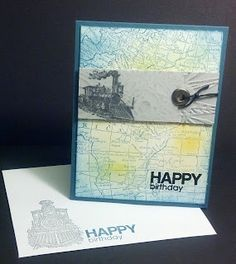"""Stampin' Up world map, A Muse """"Happy Birthday"""""""