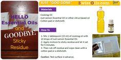 Well HELLO SwissJust Essential Oils...Use SJ's Lemon Essential oil + cooking oil and say Goodbye to Sticky residue! Contact Lauren Morton at SwissOils@gmail.com | www.SwissOils.com