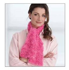 Follow this free knit pattern to create a scarf using Bernat Boa yarn.