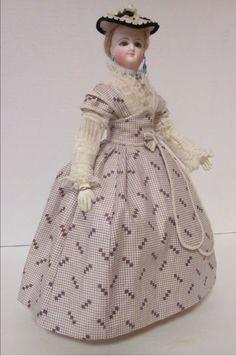 "Fashionable 14"" Bru Smiler with extensive wardrobe"