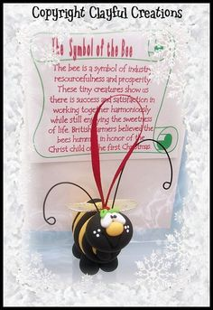 Becky's Polymer Clay Bumble Bee Story por clayfulcreations en Etsy