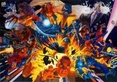 X-Men trading cards by Greg & Tim Hildebrandt. Dig it.