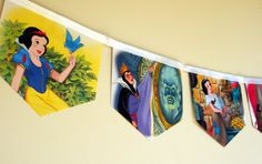 Snow White and the Seven Dwarfs - Storybook Paper Bunting by MagpieSailor, $14.50