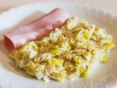 poivre, crême fraîche, poireau, beurre, jus de citron, moutarde de dijon, sel