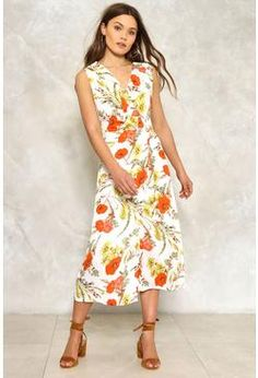bff64987aab Delta Floral Dress Casual Looks
