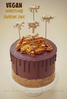 """Vegan honeycomb """"Crunchie"""" cake recipe I honestly can't believe its THAT time of year again! The PETA Great Vegan Bake Off is GO! I'm so excited to see this years entries an…"""