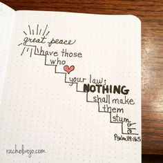 When we take God at his word, we can have great peace. Not ok peace. Not mediocre peace. Not good peace. Great peace.