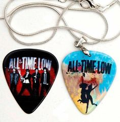 All Time Low (Band) Guitar Pick Necklace