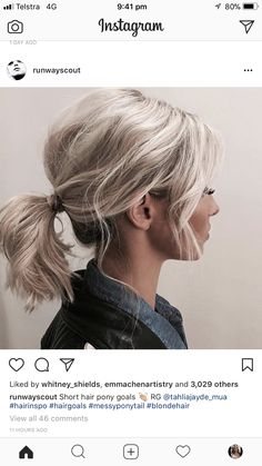 Pin by Global News Wire on Social Media in 2019 Ponytail Hairstyles global media News Pin social Wire Good Hair Day, Great Hair, Hair Blond, Look Plus, Hair Color And Cut, Pinterest Hair, Pretty Hairstyles, Short Hair Ponytail Hairstyles, Loose Ponytail