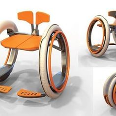 An electric wheelchair concept disguised as a manual wheelchair. Assistive Technology, Cool Technology, Technology Gadgets, Tech Gadgets, Business Technology, Manual Wheelchair, Portable Wheelchair, Lightweight Wheelchair, Cool Inventions