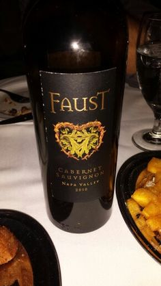 Faust cab Napa 2010.   My favorite so far of all wines!