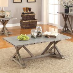Free Shipping. Buy Coaster Furniture Metal Top Industrial Coffee Table at Walmart.com