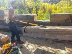"""""""One-person use of log carrier."""" -Northern Tool Customer From CO Lumberjack Tools, Log Carrier, Logging Equipment, Lumberjacks, Sustainable Forestry, Hand Tools, Wood Working, Woodworking Tools, Firewood"""
