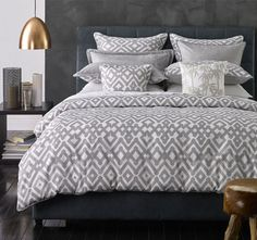 Zig Zag Quilt Cover Set Range Natural - Quilt Covers - Bed | Manchester Warehouse