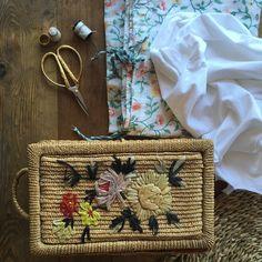 Mañanita de costura vintage con el costurero de la bisabuela #costurero #vintage #herencias #vintagesewingkit #heritage #sewingsummer