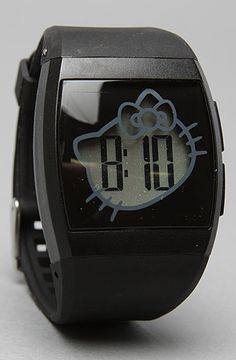 I am not even a huge Hello Kitty fan but I love this watch. The Hello Kitty Plastic Digital Watch in Black by *Accessories Boutique