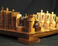 Chess Set War of 1812 Chess Set handmade on by JimArnoldsChessSets