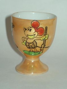 Mickey Mouse lustreware egg cup from pre-war Japan...