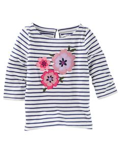 Kid Girl Floral Striped Top from OshKosh B'gosh. Shop clothing & accessories from a trusted name in kids, toddlers, and baby clothes.