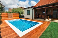 Outdoor Swimming Pool Prices - Are you thinking of placing a swimming pool right in your garden? There is A pool a fun add Backyard Pool Landscaping, Small Backyard Pools, Small Pools, Swimming Pool Prices, Outdoor Swimming Pool, Moderne Pools, Modern House Design, Pergola, Aqua