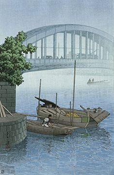 """Japanese Art Print """"Eitai Bridge, Tokyo"""" by Kawase Hasui ... http://www.amazon.com/dp/B01E8VHC02/ref=cm_sw_r_pi_dp_WCZhxb1WXB4SP"""