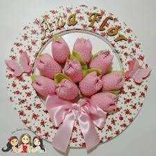 Resultado de imagem para enfeite porta maternidade flores