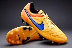 5771ea6d4 Mens Nike Tiempo Legend V FG Soccer Cleats Size 8 Orange Purple with BAG.  Soccer CleatsBasketball ShoesFootball ...