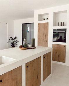 Kitchen Room Design, Home Decor Kitchen, Rustic Kitchen, Interior Design Kitchen, Home Kitchens, Cuisines Design, Kitchen Remodel, Sweet Home, New Homes