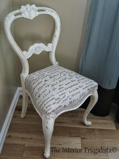 Antique Balloon Back Chair Makeover