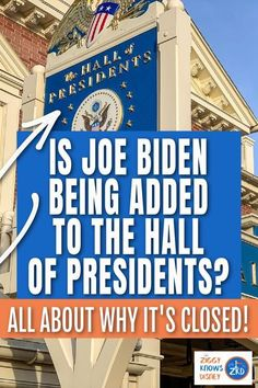 As Joe Biden is on his way into the White House as the 46th President of the United States, Disney has now confirmed that The Hall of Presidents is closing for refurbishment and a Joe Biden Animatronic figure is being added to the attraction. Read more details in this post from Ziggy Knows Disney.