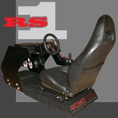 Ricmotech Do It Yourself Racing Simulator Cockpit Flight Simulator Cockpit, Racing Simulator, Racing Seats, Car Seats, Racing Wheel, Diy Arcade Cabinet, Diy Computer Desk, Pc Gaming Setup, Store Image