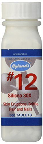 Hylands Cell Salts 12 Silicea 30X Tablets Natural Homeopathic Acne Pimples Blackheads and Hair and Nails Relief 500 Count * Read more reviews of the product by visiting the link on the image.