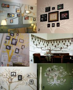 Image detail for -christinebyhand: Family Tree Photo Wall Murals