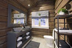 FINN – Innflyttingsklar HYTTEDRØM på utsiktstomt - Norefjell Timber Cabin, Cabin Porches, Building A Cabin, Cabin Bathrooms, Mountain Cottage, Basement Inspiration, Dere, Log Cabin Homes, Cottage Interiors