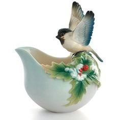 Franz Porcelain Chickadee Holiday Beginnings · From allteapots.com >
