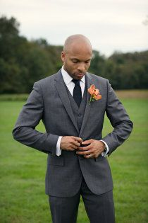 Suited & Booted. Grey suit