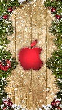 Red Christmas Apple iPhone 6S wallpaper