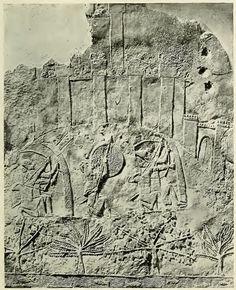 Guerreiros assírios sitiando uma cidade (Campanhas de Senaqueribe)