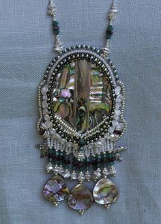 Beaded Abalone Necklace