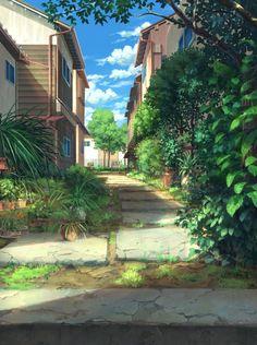 ぴっぴ on - - Fantasy Art Landscapes, Fantasy Landscape, Landscape Art, Scenery Background, Animation Background, Anime Scenery Wallpaper, Wallpaper Backgrounds, Aesthetic Backgrounds, Aesthetic Wallpapers